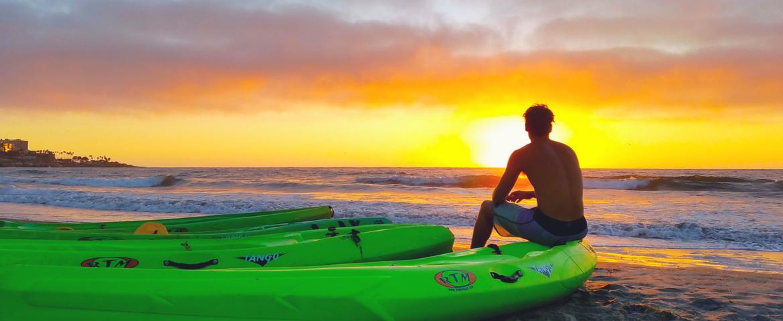 sunset kayak tour la jolla shore la jolla kayak